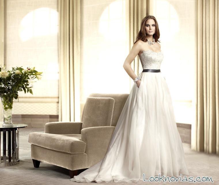 vestido de novia con bolsillos de caroline castigliano