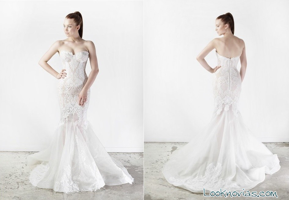 vestido de novia con bordados de leah da gloria