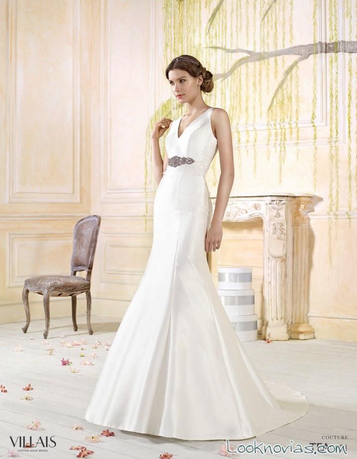 vestido de novia con cinturón de alta costura