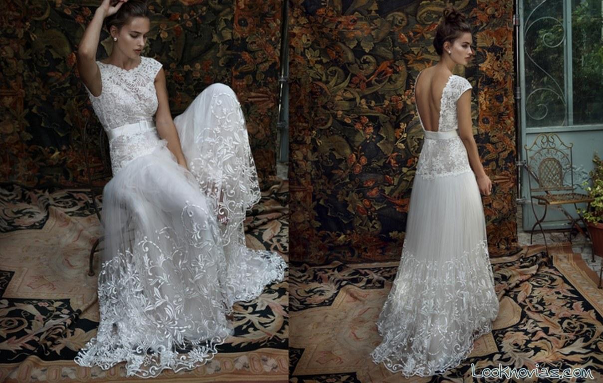 vestido de novia con cinturón de lihi hod