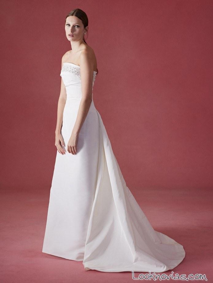 vestido de novia con cola fall 2016 oscar de la renta