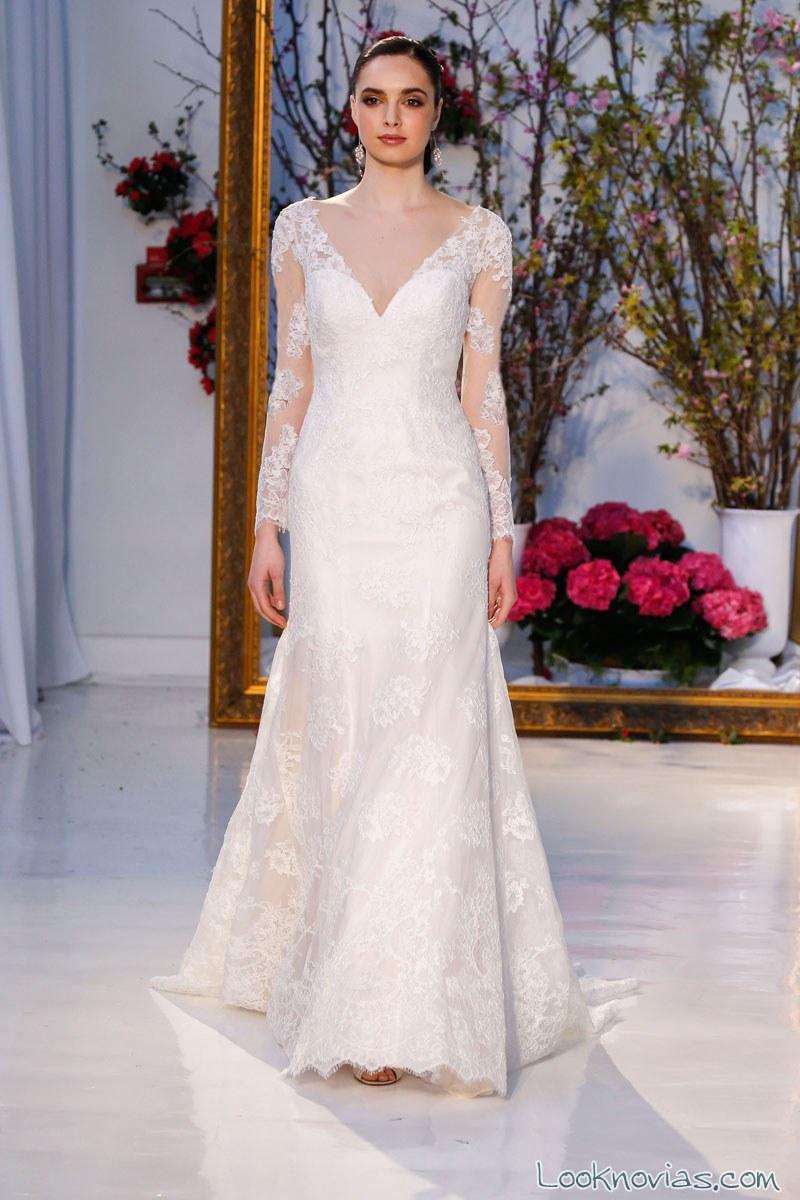 vestido de novia con mangas anne barge