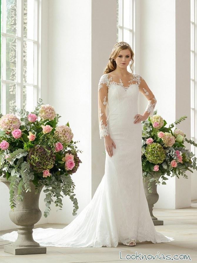 vestido de novia con mangas catherine Parry
