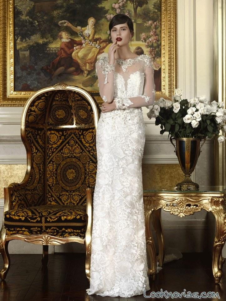vestido de novia con mangas intuzuri