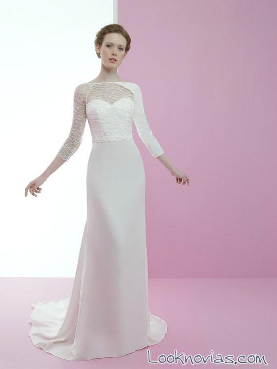 vestido de novia con mangas originales