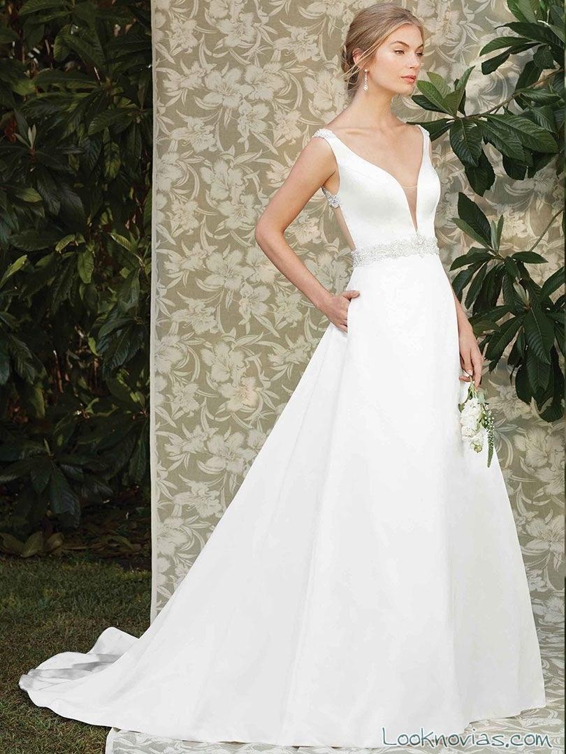 vestido de novia con tirantes casablanca bridal 2017