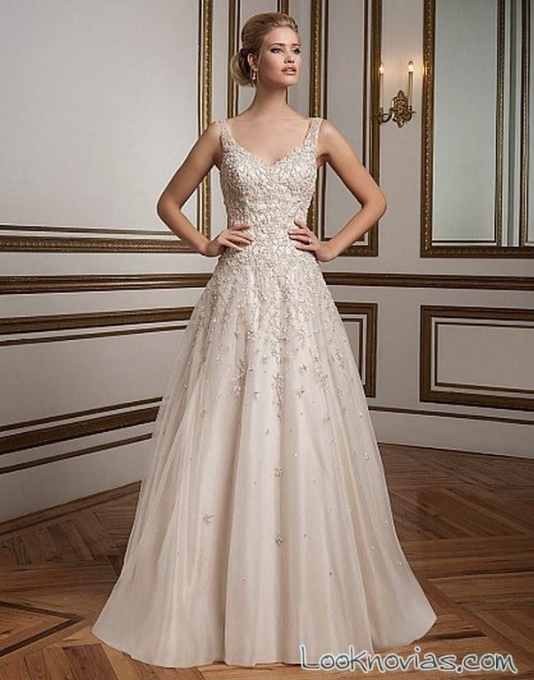 vestido de novia con tirantes justin alexander