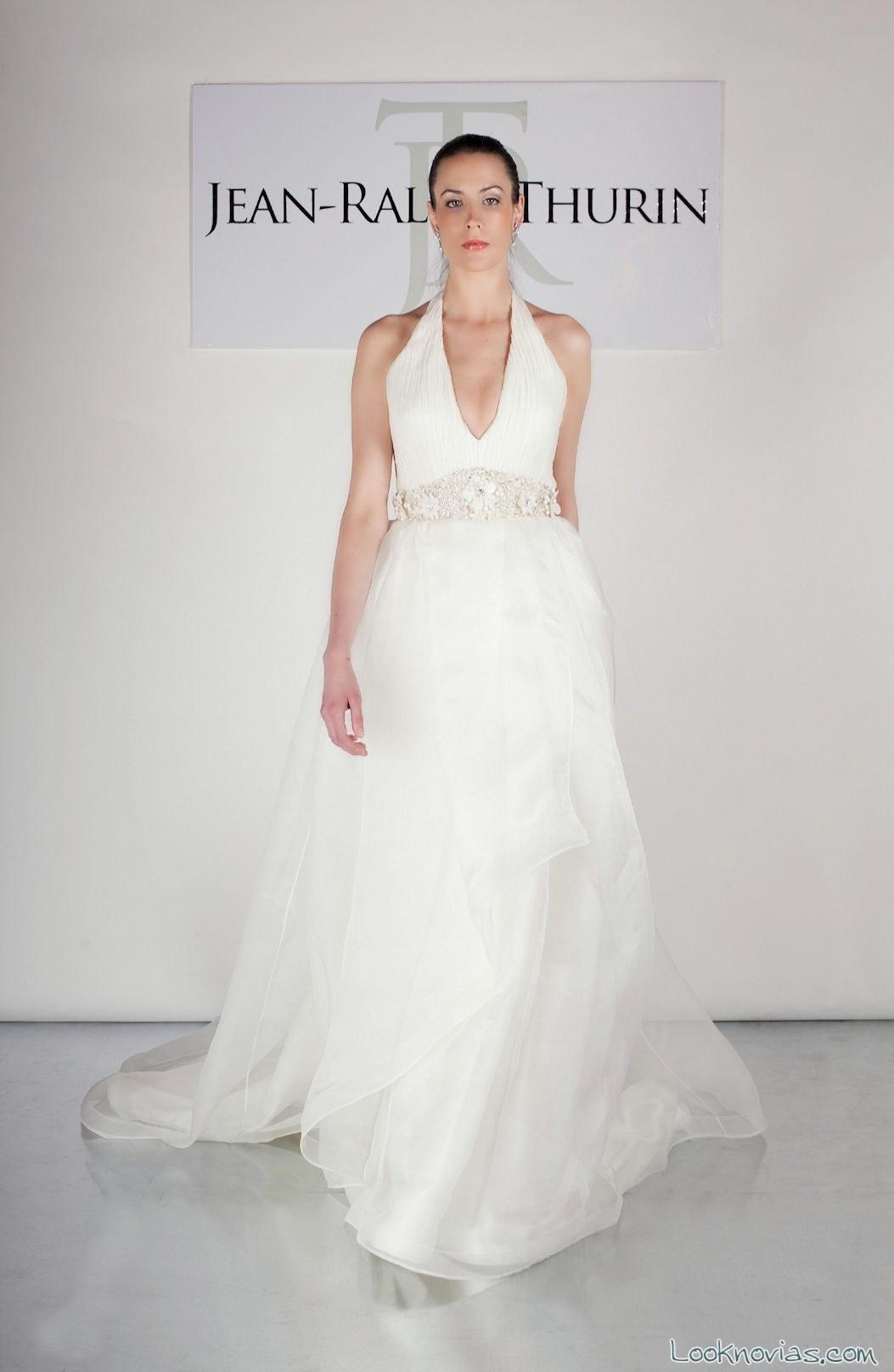 vestido de novia con tirantes