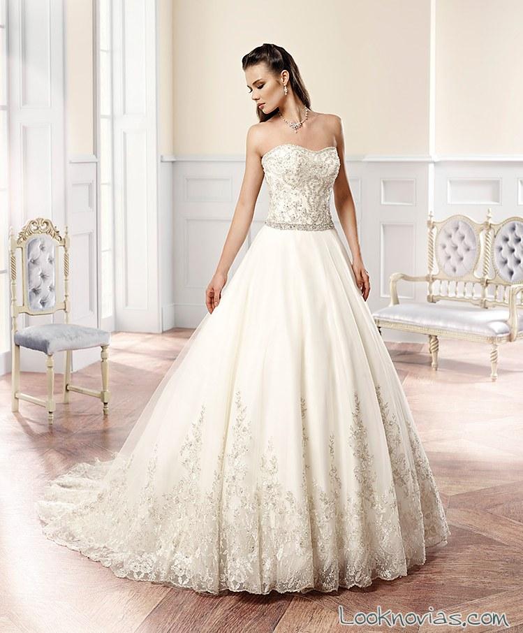 vestido de novia corte a de Eddy K