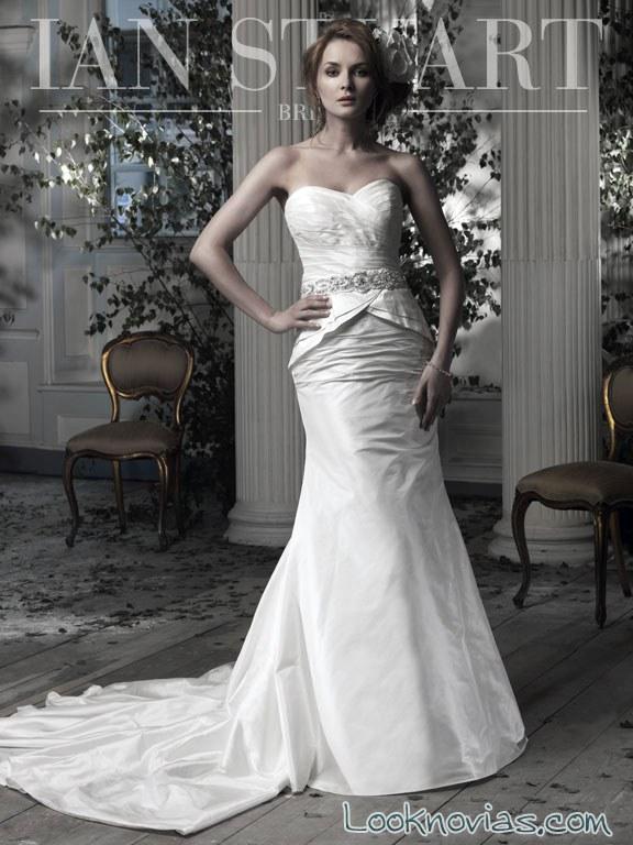 vestido de novia corte peplum de ian stuart