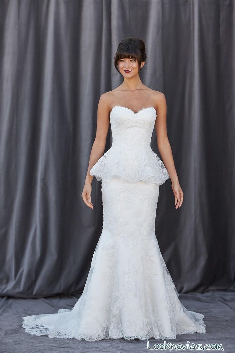 vestido de novia corte peplum
