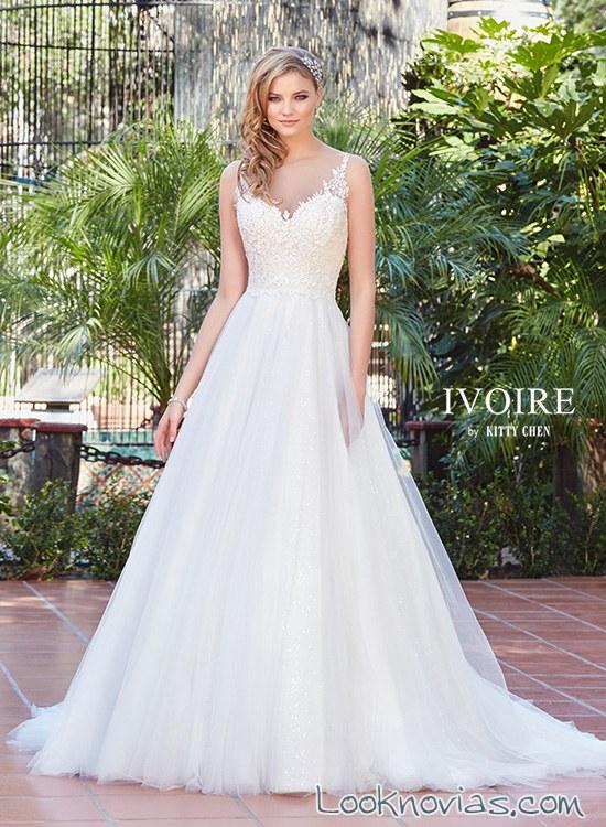 vestido de novia corte princesa kittychen 2017