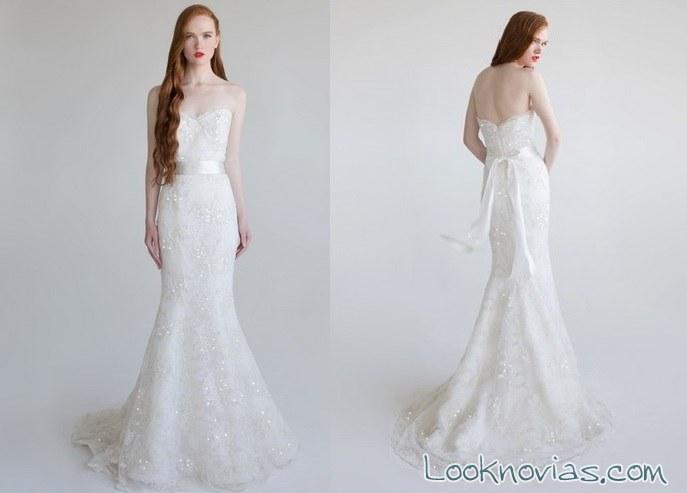 vestido de novia corte sirena aria