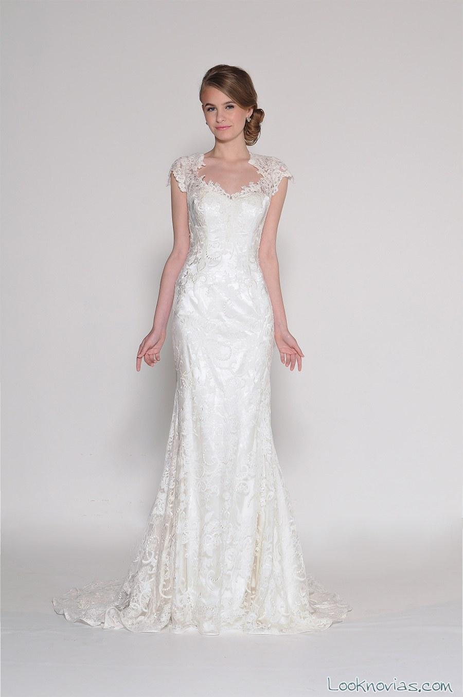 vestido de novia corte sirena con tirantes anchos