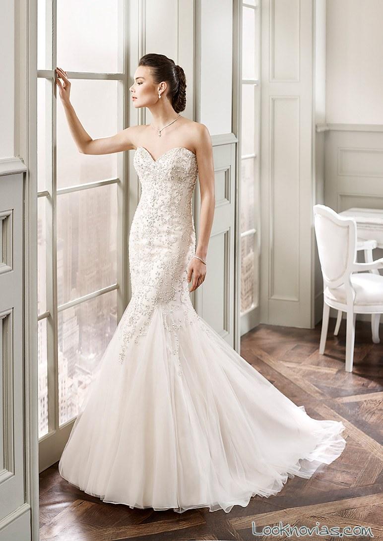 vestido de novia corte sirena de eddy k
