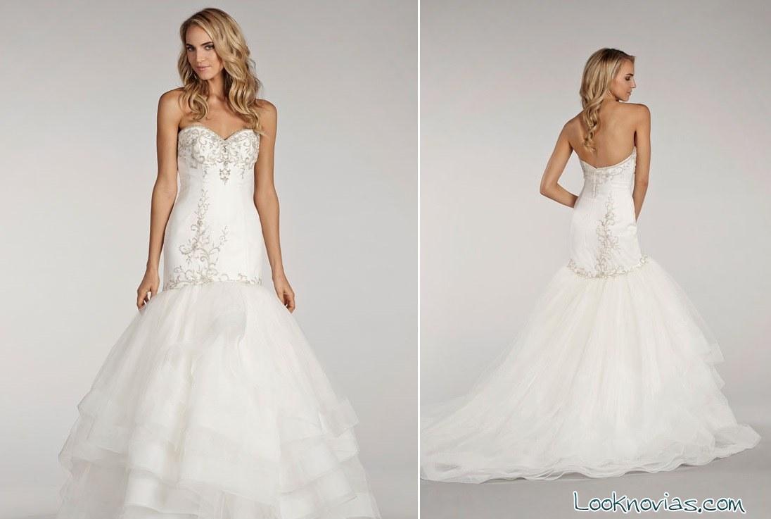 vestido de novia corte sirena lovelle lázaro