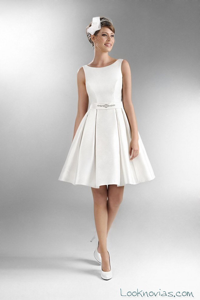 vestido de novia corto agnes bridal