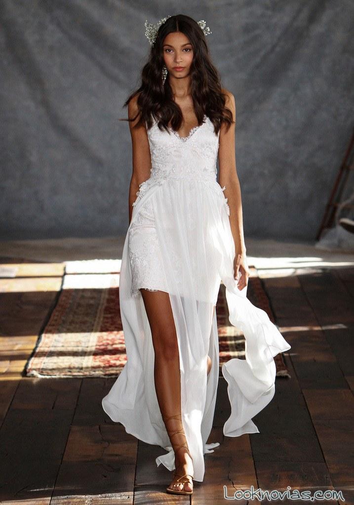 vestido de novia corto claire pettibone