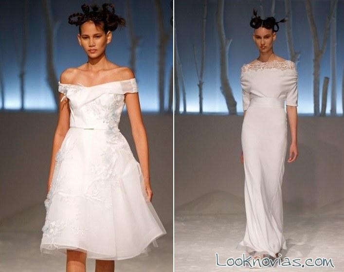 vestido de novia corto y recto