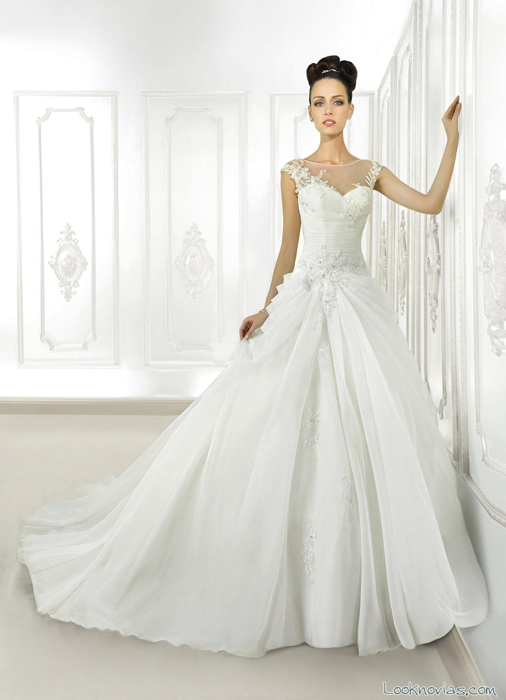 vestido de novia cosmobella con doble falda