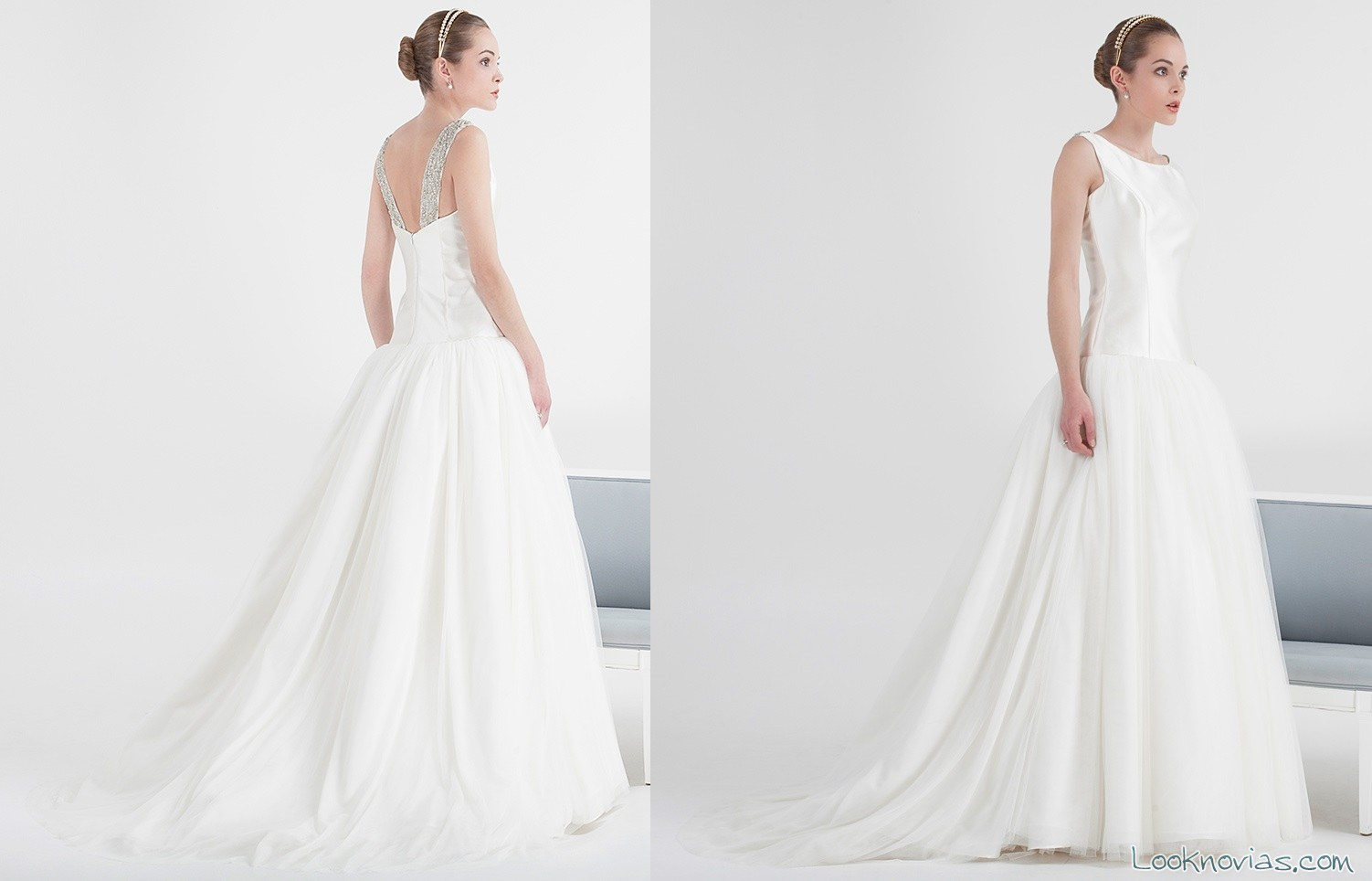 vestido de novia cristina tamborero romántico y delicado
