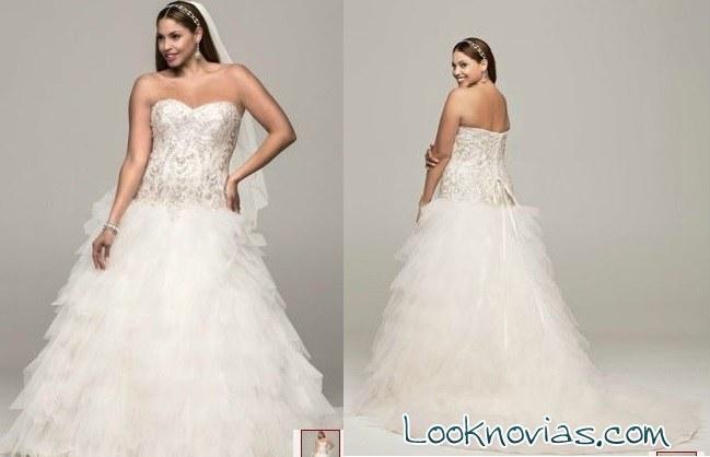 vestido de novia david´s bridal talla grande