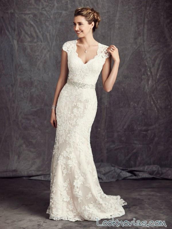 vestido de novia de manga corta