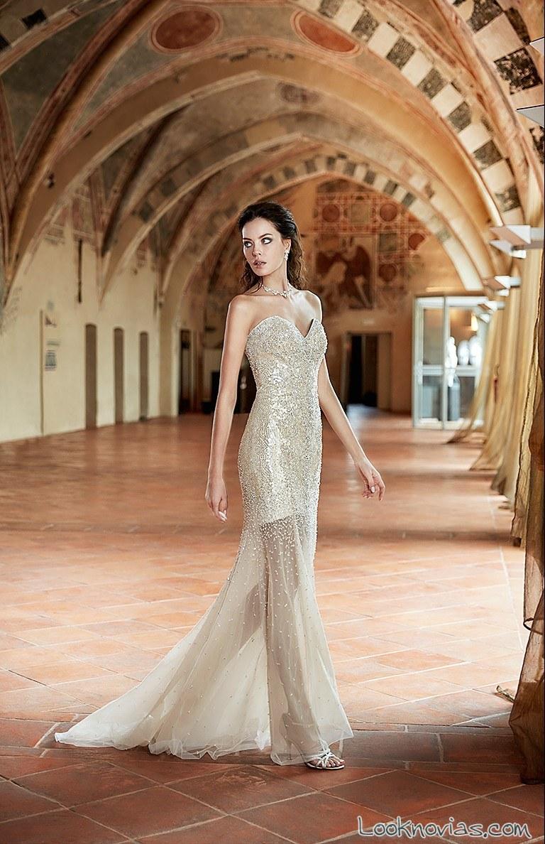 vestido de novia eddy k alta costura con transparencias
