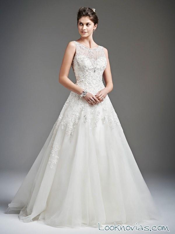 vestido de novia elegante de kenneth winston
