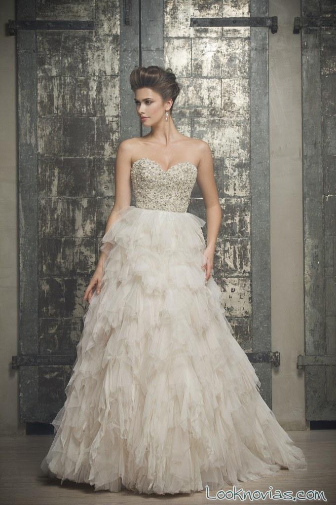 vestido de novia elegante enaura