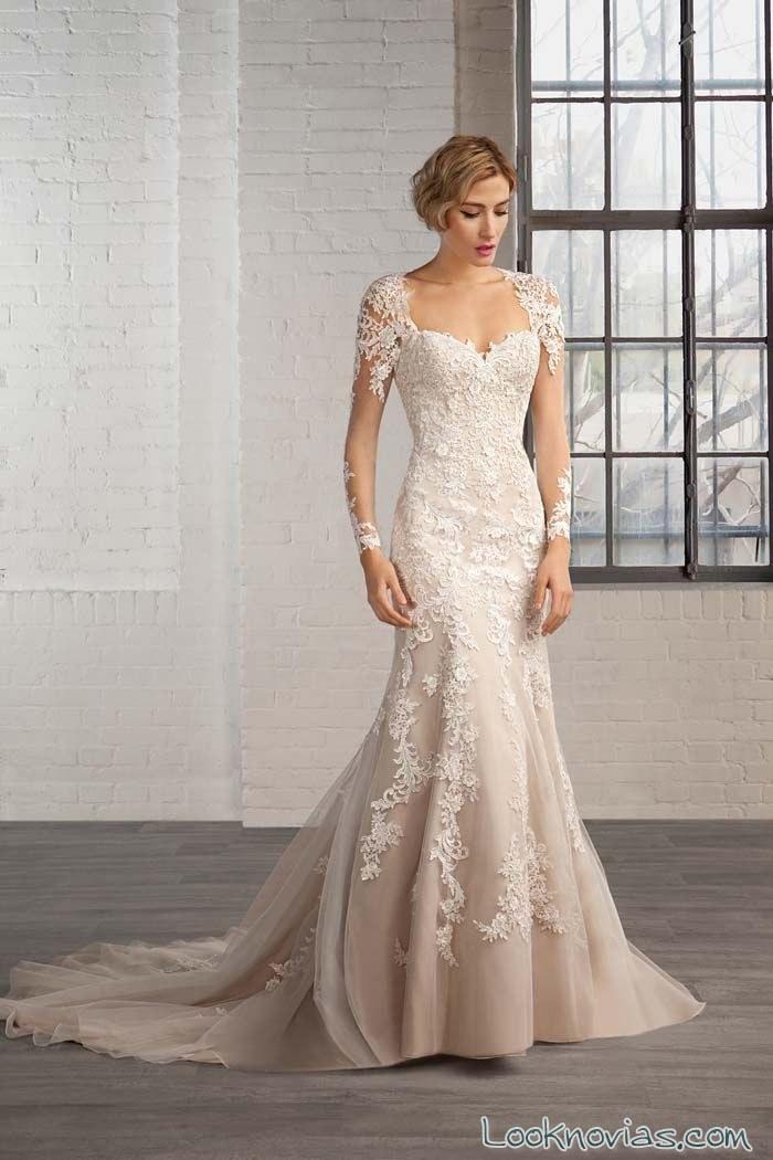 vestido de novia en color cosmobella