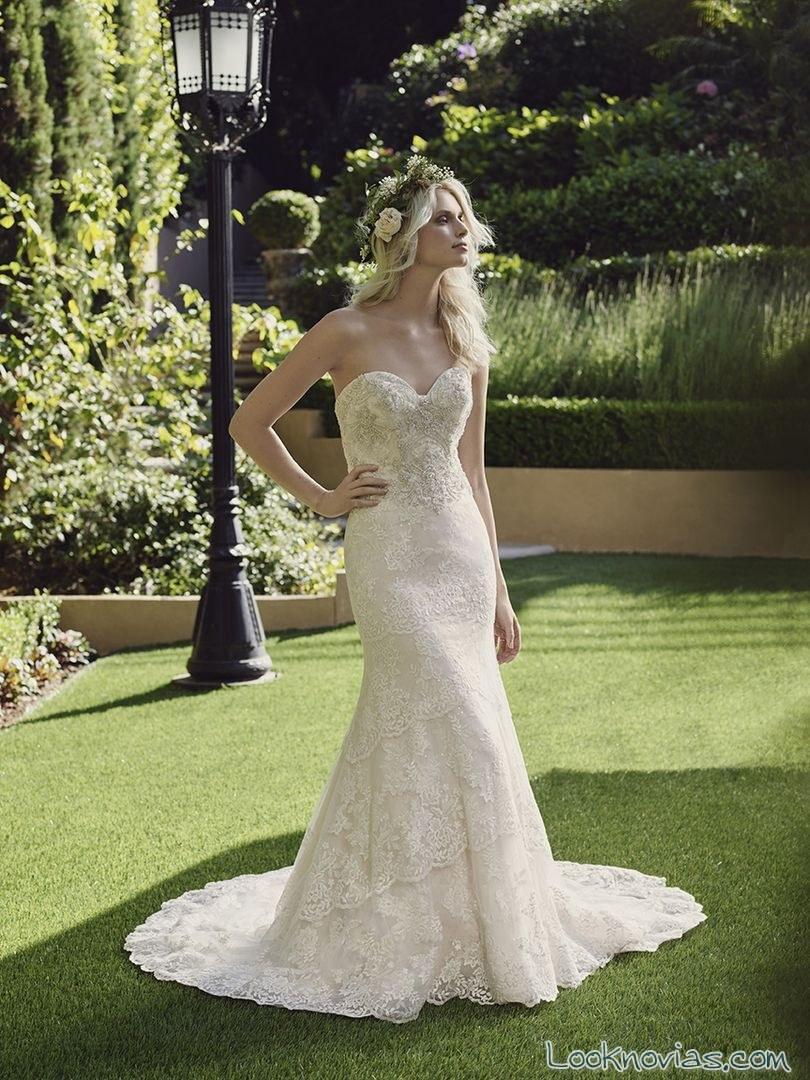 vestido de novia escote corazón casablanca