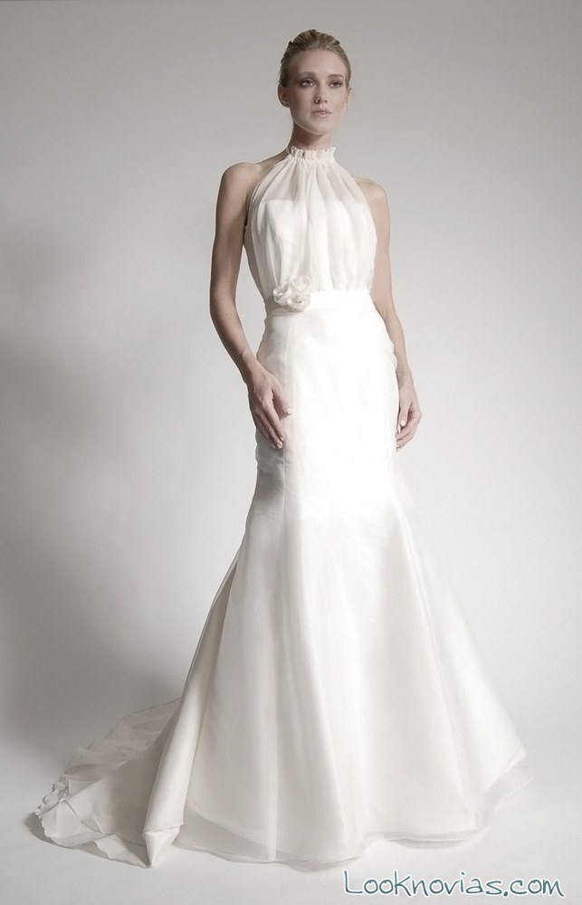 vestido de novia escote halter elizabeth st john