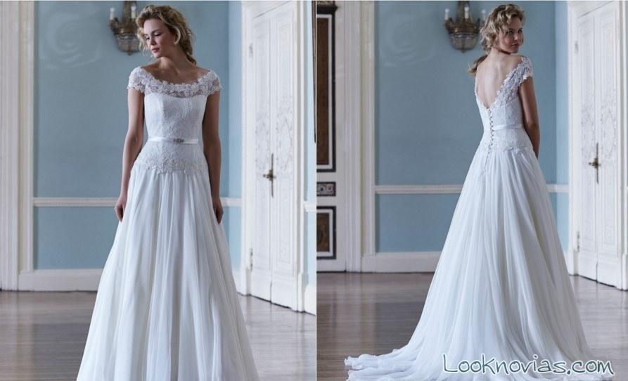 vestido de novia escote hombros caídos sassi holford