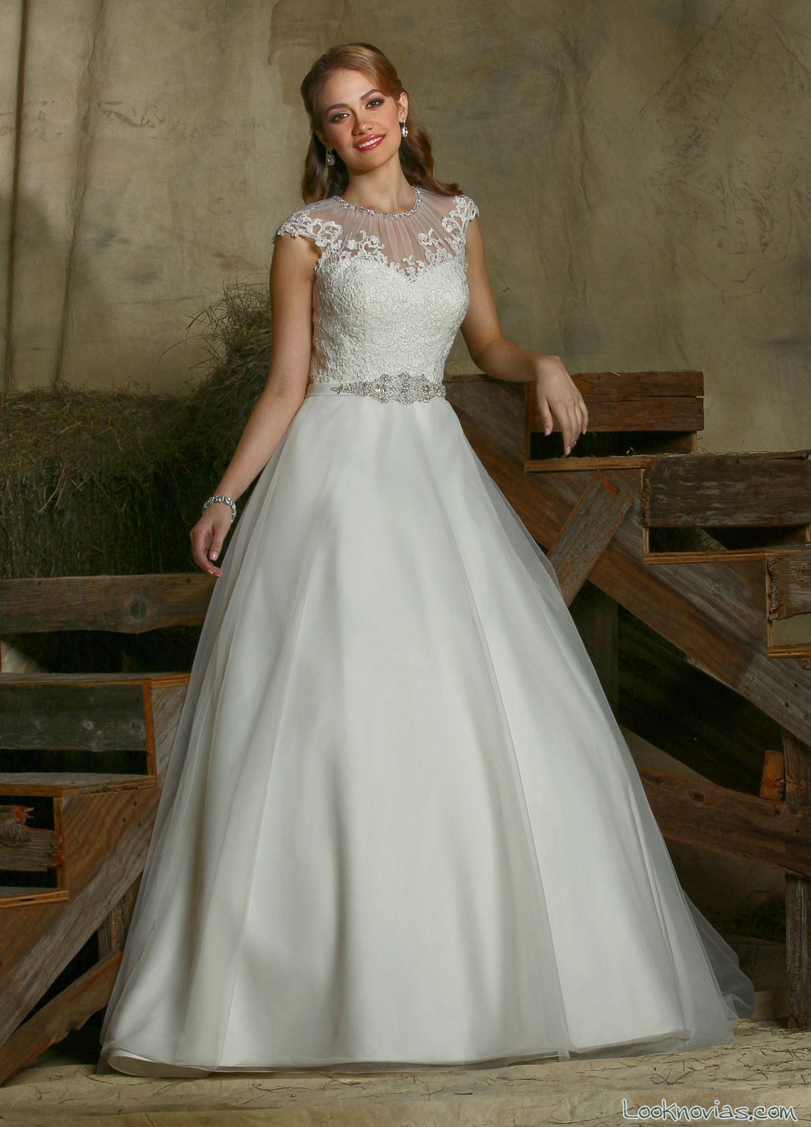 vestido de novia evasé davinci