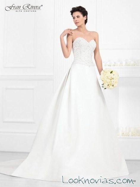 vestido de novia evasé de alta costura