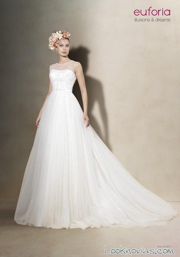vestido de novia evasé euforia