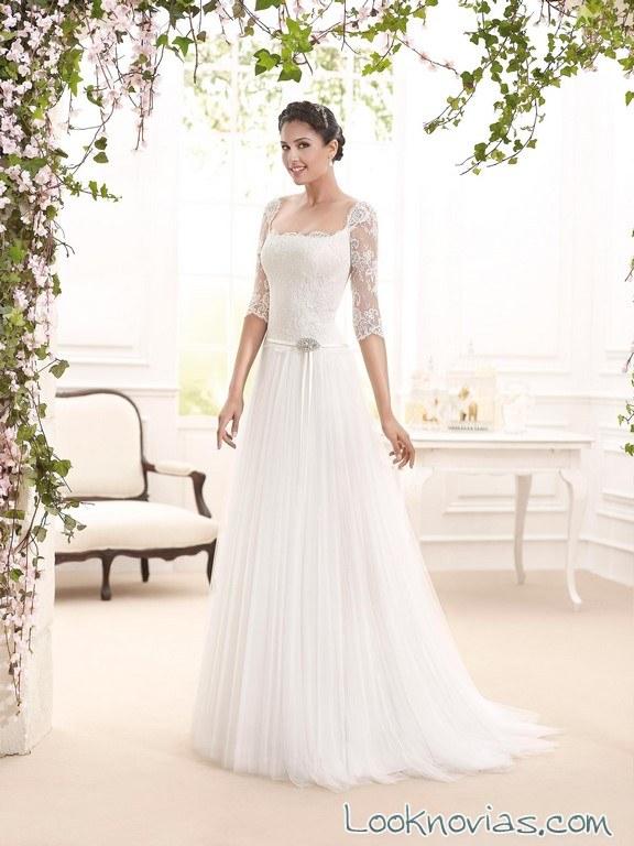 vestido de novia evasé novia d´art