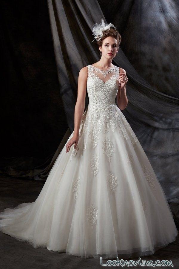 vestido de novia evasé por karelina sposa