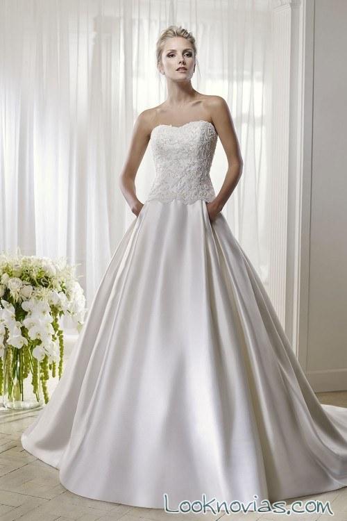 vestido de novia falda satinada divina sposa
