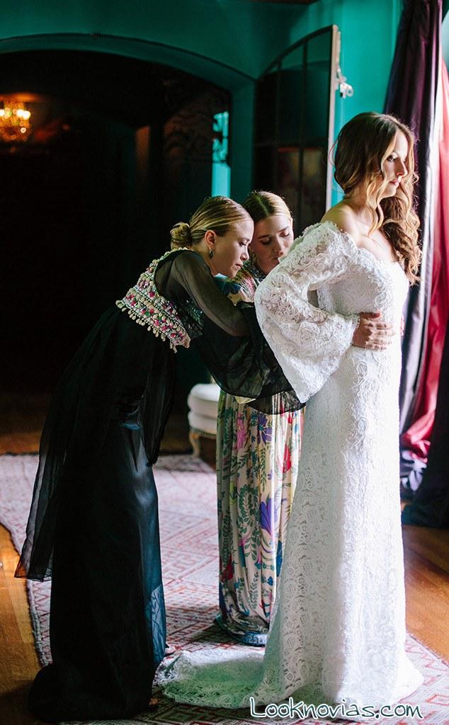 Vestido de novia hermanas Olsen