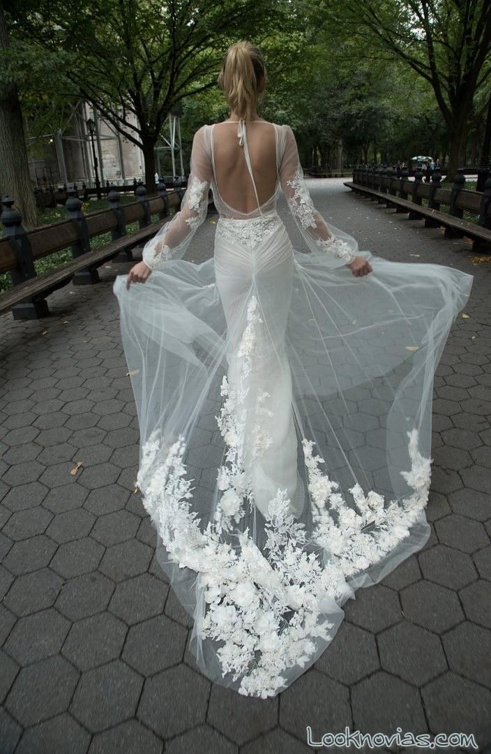 vestido de novia inbal dror con transparencias