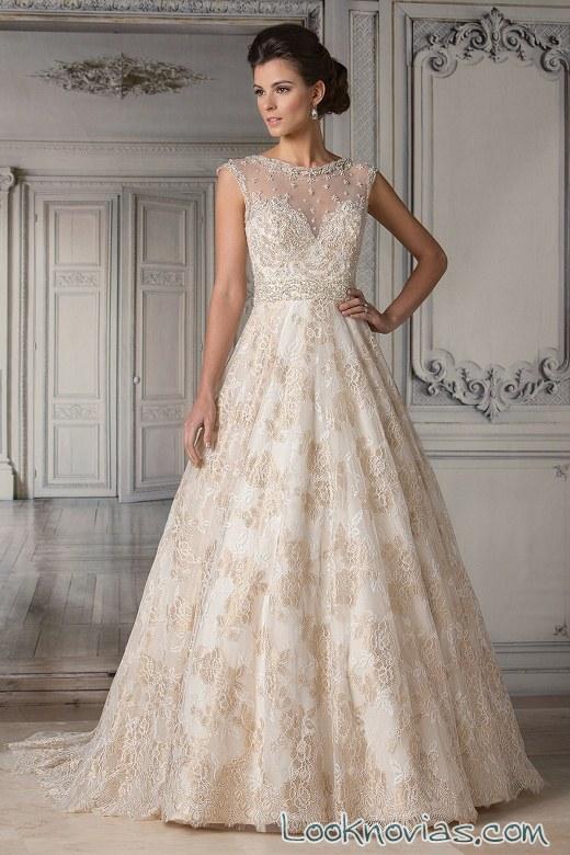vestido de novia jasmine coutura en color