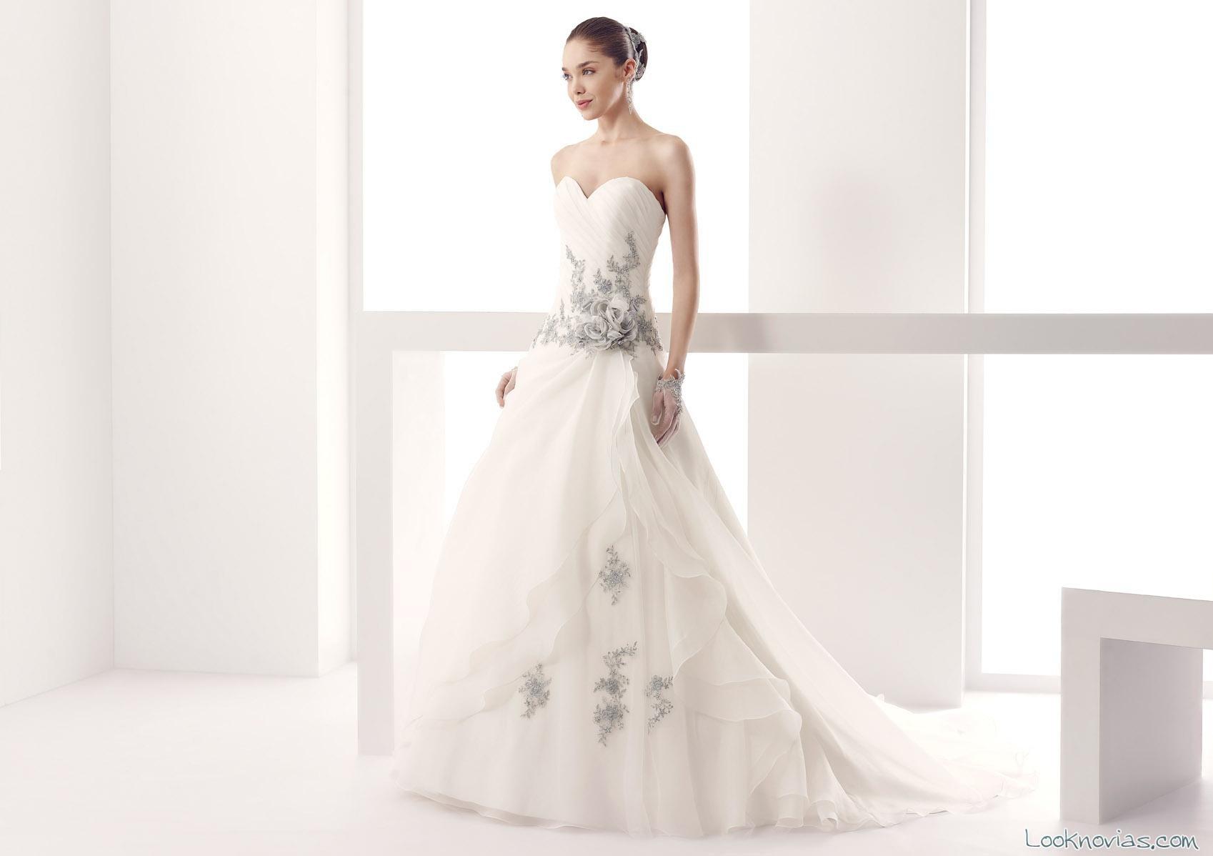 vestido de novia jolies en color