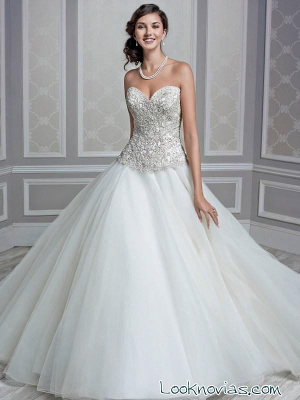 vestido de novia kenneth winston con color