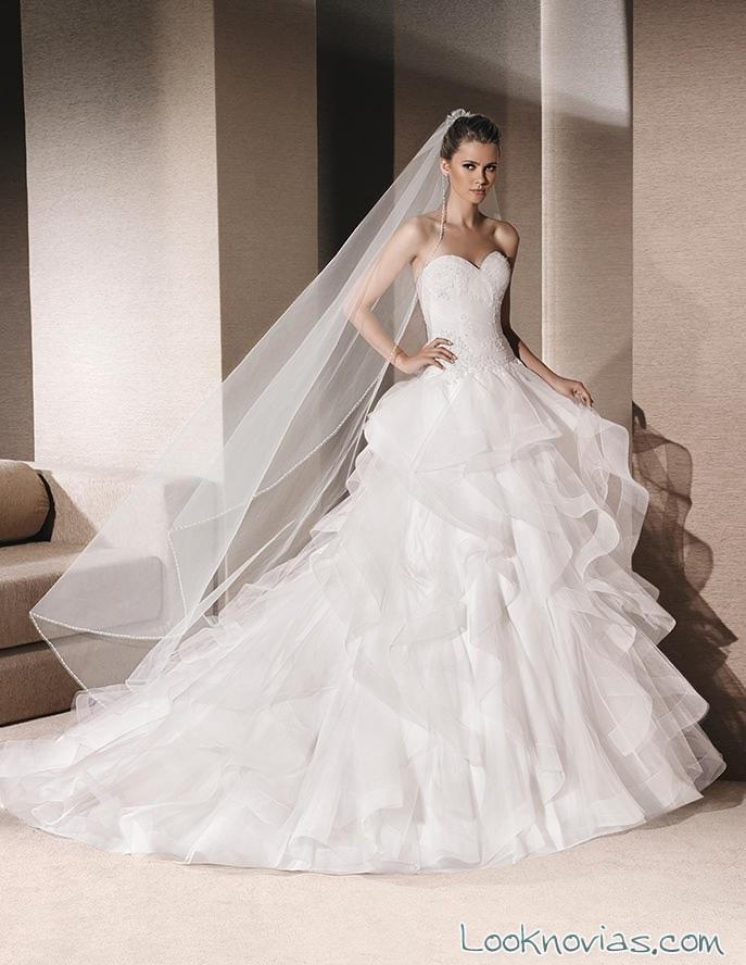 vestido de novia la sposa con volantes