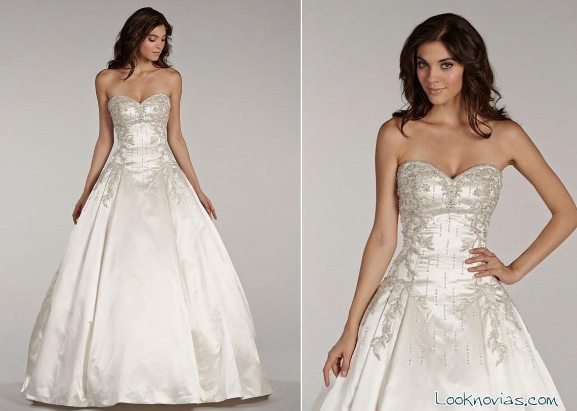 vestido de novia lovelle lazaro con bordados