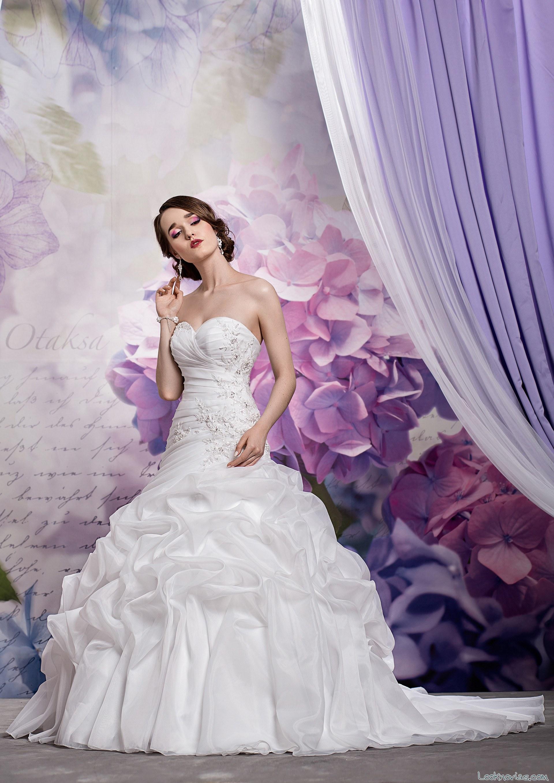 vestido de novia lucienne 2016 con volantes