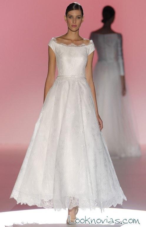 vestido de novia midi hannibal laguna