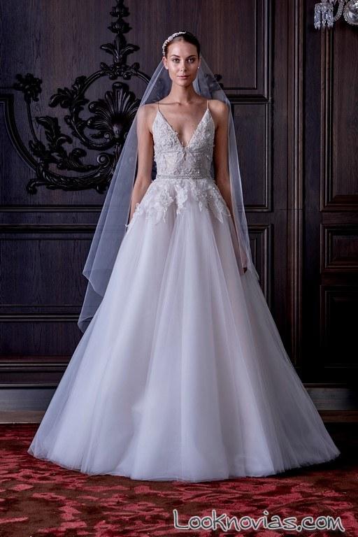 vestido de novia monique lhuillier 2016